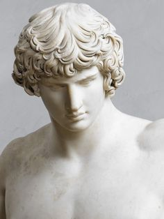 "ganymedesrocks: "" "" Bust of Antinous (detail) 117-138 A.D. "" Antinous (also…"