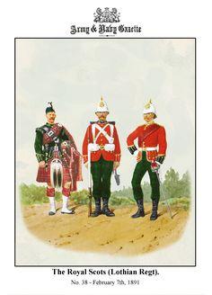 British; The Royal Scots(Lothian Regiment, c.1890 by R.Simkin