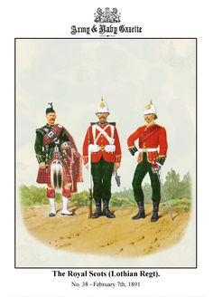 British; The Royal Scots(Lothian Regiment, c.1890 by R.Simkin