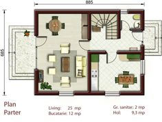 small house 2 floor plans amazing idea small villa plan small house plans mansard roof on tiny home 2 storey small house design philippines with floor plan Duplex House Plans, Modern House Plans, Small House Plans, Best Home Interior Design, Home Garden Design, Small House Design, Modern House Design, House Extension Cost, Small Villa