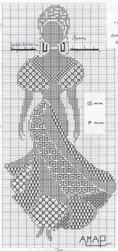 0 point de croix femme africaine - cross stitch african woman: