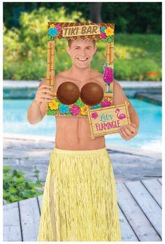 Hawaiian Coconut Tiki Bar Photo Frame Prop Paper Fan Decorations, Hawaiian Party Decorations, Hawaiian Decor, Tiki Bar Signs, Tiki Bar Decor, Photo Frame Prop, Photo Props, Foto Frame, Photo Booth Kit
