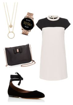 """Working Girl"" by graciegreen513 on Polyvore featuring Paule Ka, Tabitha Simmons, Ted Baker, FOSSIL and Kate Spade"
