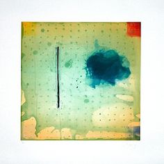 Pat Steir: Mixed Marks, Grid and Ink Blot, 2004 Size: 29 x 28 inches Medium: Color water bite and spit aquatints with soft ground etching Collagraph, Printmaking, Foundation, Collage, Ink, Abstract, Prints, Grid, Painting