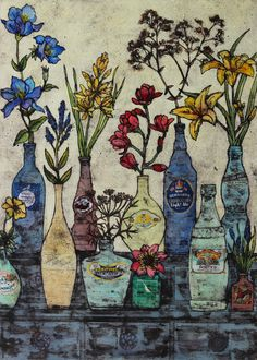 """The Dresser"" by Vicky Oldfield (collograph)"