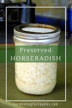 Homemade horseradish sauce is a traditionally fermented recipe. This simple preserved horseradish is fermented in cider vinegar. It will last for 6 months in the fridge without any additional preservation. A simple, delicious, sulfite-free condiment. Homemade Horseradish, Horseradish Pickles, Horseradish Recipes, Fresh Horseradish, Horseradish Sauce, Growing Horseradish, Fermentation Recipes, Canning Recipes, Canning Tips