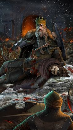 King Brand and King Dain Ironfoot by steamey on deviantART