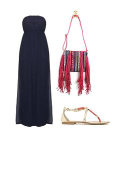 NUEVO BOHO CHIC: vestido Only, bolso Chalada y sandalias Exé
