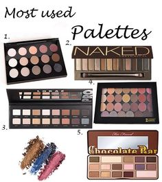 Most Used Eye Shadow Palettes on the blog