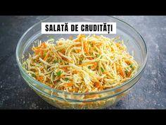 Salată de crudități - multe vitamine, puține calorii | Bucate Aromate - YouTube Japchae, Healthy Recipes, Ethnic Recipes, Food, Diet, Vitamins, Diy, Kuchen, Essen