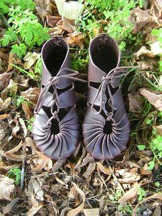 Celtic leather shoes vegetable tanning - On Order. $76.00, via Etsy.
