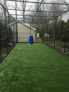 Batter's up! Baseball season has begun, don't let the pros have all the fun.  Take a look at the residential batting cage we installed.