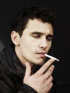 To cute to smoke. Naughty James Franco. (please follow minkshmink on pinterest)