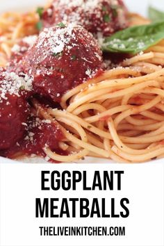 Eggplant meatballs a meatless meatball made from eggplant mushrooms and breadcrumbs so easy savory and perfect over spaghetti with marinara sauce! easy recipes vegetarian baked recipes best eggplant meatballs mary thumbs up Tasty Vegetarian Recipes, Healthy Recipes, Easy Recipes, Vegetarian Lunch, Recipes For Vegetarians, Sushi Recipes, Vegetarian Cooking, Sauce Recipes, Tasty Videos