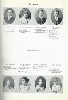 from a 1915 Medina High School Yearbook