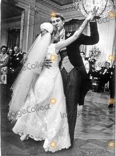 Newlyweds Tricia Nixon and Edward Cox have their first dance following their wedding ceremony in the White House Rose Garden on June 12, 1971.