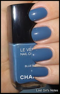 Chanel Blue Boy nail color. Chanel has the best polish colors.