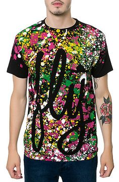 The Fly Pollock Tee in Black by Fly Society