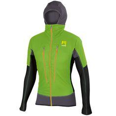 Zelená outdoor bunda s kapucňou Karpos Alagna Plus je ieálna na skialp/lyžovanie. Má Polartec izoláciu, DWR úpravu. Ľahká, priedušná, neprefúkavá skialpová bunda. Mtb, Wetsuit, Motorcycle Jacket, Athletic, Swimwear, Outdoor, Fashion, Cowl, Jackets