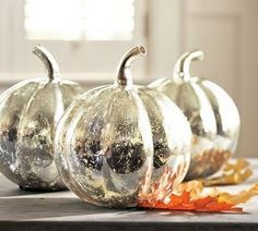 mercury glass pumpkins--DIY