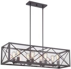 Designers Fountain High Line Satin Bronze Industrial Clear Glass Linear Kitchen Island Light at Lowe's. The High Line Collection comes in Satin Bronze with Clear glass. This Traditional High Line 8 Light Linear Chandelier will complement the decor in any Linear Chandelier, Kitchen Island Bench, Bronze Kitchen, Island Lighting, Chandelier Lighting, Designers Fountain, Acclaim Lighting, Light Fixtures, Kitchen Island Lighting