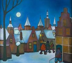 3 koningen in Amersfoort Toon Tieland Awsome Pictures, Building Painting, Holland, Colours, Winter, Buildings, Graphics, Nice, Quotes