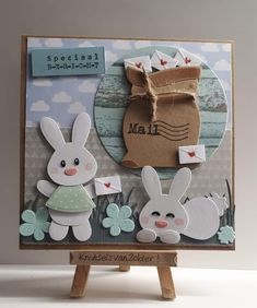 Baby Bunnies, Bunny, Marianne Design Cards, Cardmaking, Frame, Tags, Home Decor, Feltro, Easter Bunny