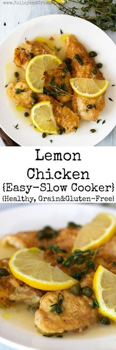 These easy succulent Lemon Chicken Tenders are just like the Italian restaurant favorite, except these are healthy and gluten and grain-free! They can be made in the slow cooker too, so you can set it and forget it! The tenders are coated with a wonderful delicate breading that tastes just like the real deal (but gluten and grain-free), and it soaks up the flavorful sauce perfectly. This will surely be a new mealtime favorite in your household!