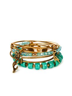 Gold, green + mermaid