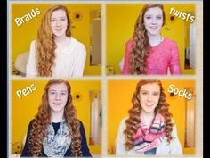 NO HEAT CURLSUSING PENS, SOCKS, TWISTS AND BRAIDS! Quick, easy, overnight curls that will make waking up in the morning that much easier :D *note that styles will have different outcomes based on hair thickness, length and natural hair*