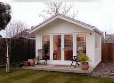 garage to guest house studio conversion. What a transformation! Lean To Shed, She Sheds, Shed Plans, Shed