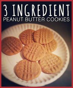 heidi stock | design and stuff: 3 Ingredient Peanut Butter Cookies