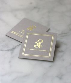 small shop for a2 communications group gold foil stamp biz card #UniqueBusinessCards