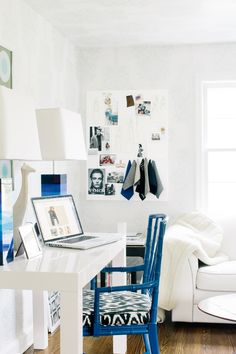 Colour inspiration - home office (blue) Devine Design, Room Inspiration, Colour Inspiration, Home Office Design, My New Room, Decoration, Home And Living, Living Spaces, Sweet Home