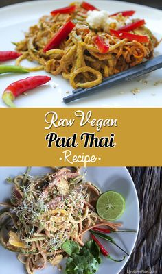 Vegan Pad Thai Recipe Vegan Pad Thai, Vegans and Glutenfree