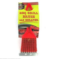 """72 BBQ Grill brush and scaper by FindingKing. $104.99. You should always give the grill a good scrub after use and before the next use. Use the brush to clean off the grill grates and the scraper to clear off sticky or stubborn food items. Measures 2"""" x 7 1/2""""."""
