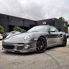 Porsche 911 Turbo Convertible W/ Black Accents, Avorza AV9 Forged Wheels