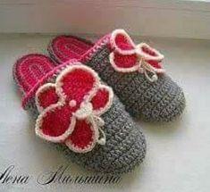 Tina's handicraft : 30 designs for crochet slippers Ribbon Design, Irish Lace, Crochet Gifts, Crochet Books, Crochet Slippers, Crochet For Kids, Cross Stitch Embroidery, Crochet Stitches, Handicraft