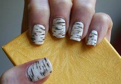 Birch Bark Nail Design | The Nail Design Blog