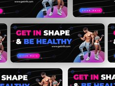 Fitness Gym Banner Concept designed by Sandeep Mandloi™. Connect with them on Dribbble; Gym Banner, Saint Charles, Show And Tell, Get In Shape, Banner Design, Gym Workouts, Concept, Ads, Fitness