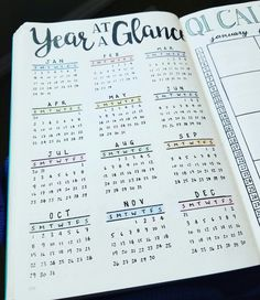 Year at a glance - 2017 bullet journal bullet journal ideas