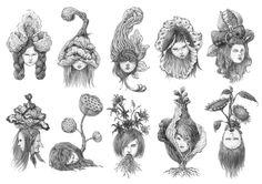 flower girls  Stunning Illustrations by Eunjung Shin  http://aumte.com