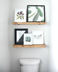 Easy Diy Floating Shelves Tutorial Bathroom Shelf Decorbathroom Wood