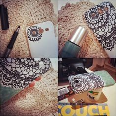 DIY doily phone case makeover