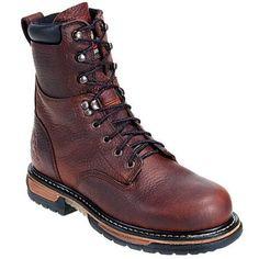 Rocky Boots Men's 6693 Waterproof Steel Toe 8-Inch Work Boots