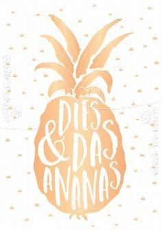 Dies & Das Ananas - Postkarte - Grafik Werkstatt Bielefeld
