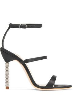 Sophia Webster | Rosalind crystal-embellished satin sandals | NET-A-PORTER.COM
