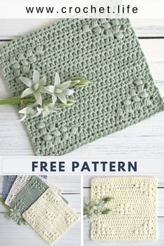 Free Dishcloth Pattern Learn the basics of how to crochet, at the very first. If you're brand new to Crochet Faces, Crochet Gifts, Free Crochet, Crochet Towel, Crochet Hooks, Crochet Kitchen Towels, Doilies Crochet, Diy Crochet Projects, Easy Crochet Patterns
