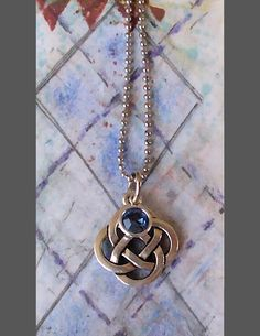 """""""Commemorate that """"Special Event"""" with a Celtic Love Knot Necklace, Sapphire, Amethyst, Swarovski Crystal #jewelry https://GracieWieber.Etsy.com"""
