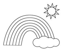 Rainbow Pot of Gold Sun and Cloud Coloring Pages